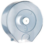 512 dispenser carta igienica rotolo mini jumbo trasparente marplast