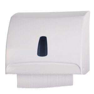 516 dispenser carta asciugamani rotolo interfogliata v c bianco marplast