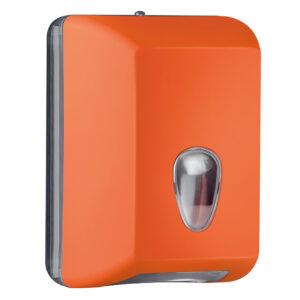 622ar dispenser carta igienica foglietti intercalati arancione colored marplast