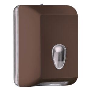 622ma dispenser carta igienica foglietti intercalati marrone colored marplast