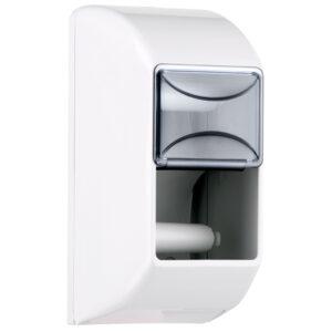 670 dispenser doppio rotolo carta igienica bianco marplast