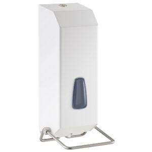 736al dispenser sapone gel riempimento 1200 ml acciaio inox laccato bianco marplast