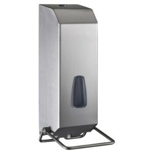 736sat dispenser sapone gel riempimento 1200 ml acciaio inox satinato marplast