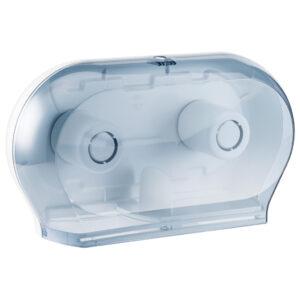 774 dispenser carta igienica doppio rotolo trasparente marplast
