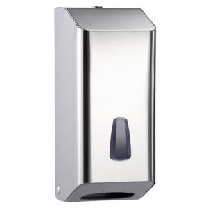 803lucido dispenser carta igienica a foglietti acciaio inox lucido marplast
