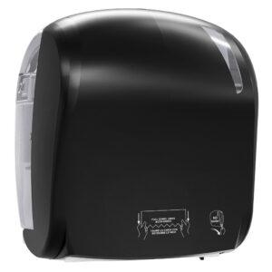 884car dispenser carta asciugamani automatico nero carbon skin marplast